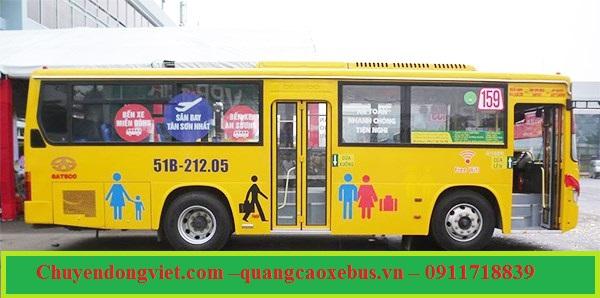 quang cao xe bus san bay Tan Son Nhat