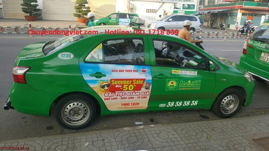 Quang cao taxi Mai Linh