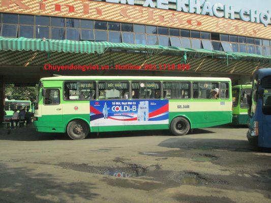 Quang cao xe bus Long An