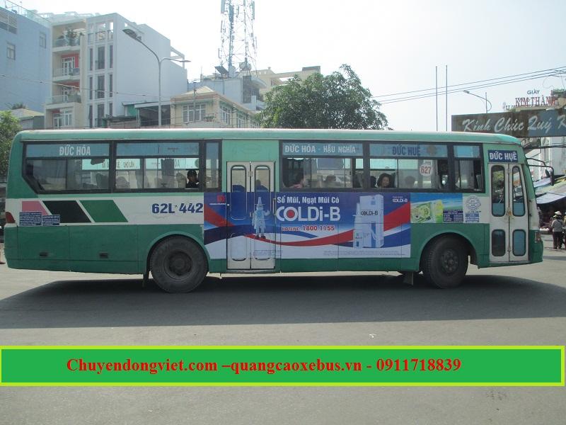 Quảng cáo xe Bus Long An