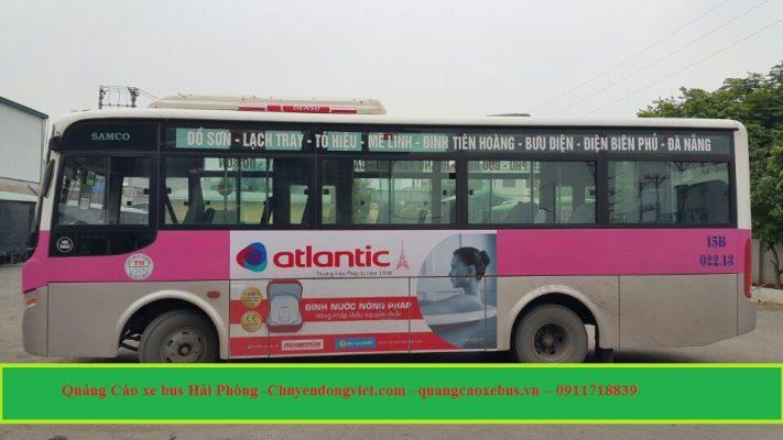 Quảng cáo trên xe bus Hải Phòng