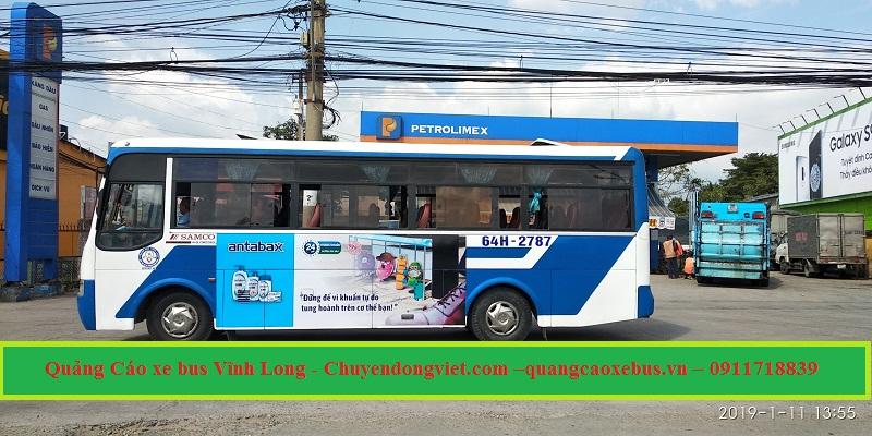 quảng cáo xe bus Vĩnh Long
