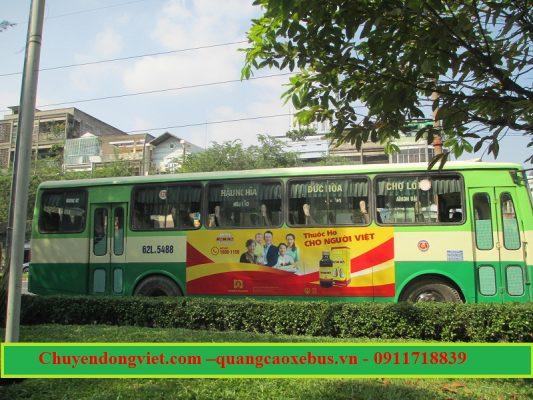 quảng cáo xe bus 627