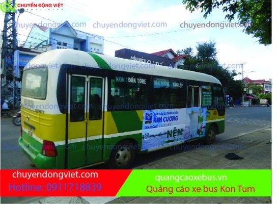Quảng cáo xe bus Gia Lai