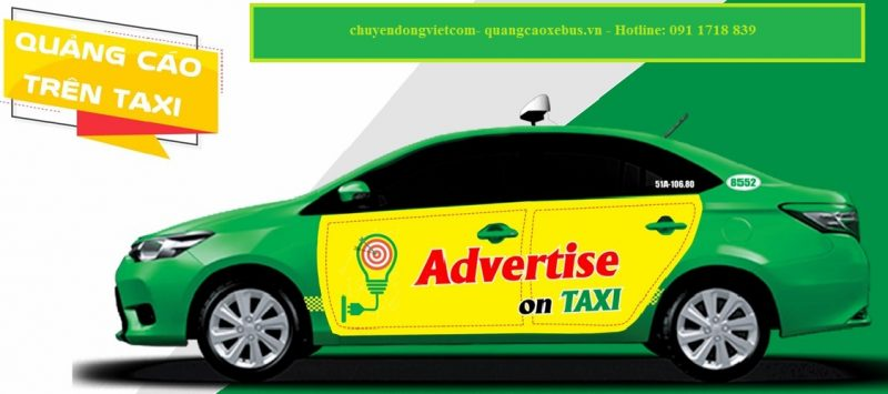 quảng cáo xe taxi mai linh