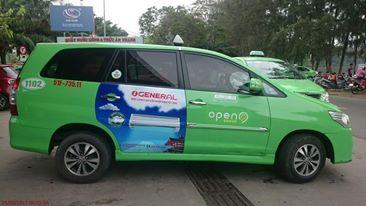quảng cáo trên xe taxi Open 99