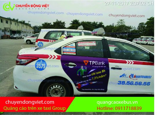 Quảng cáo trên taxi Group Hà Nội