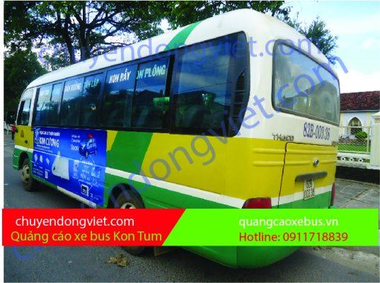 Quảng cáo xe bus Kontum