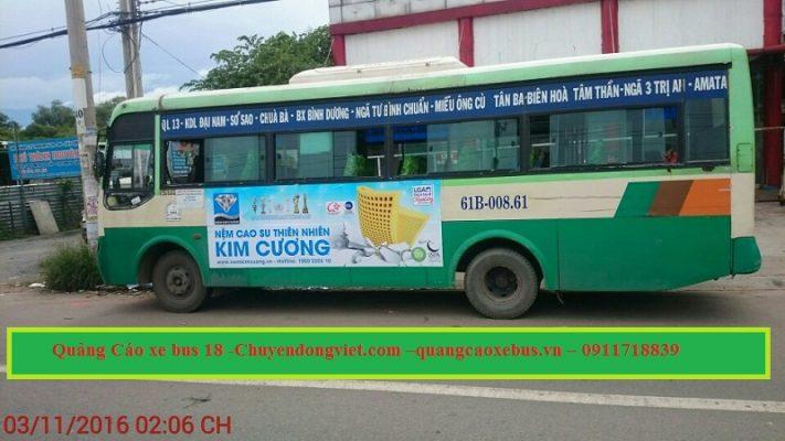 Quang cao xe bus tuyen 18