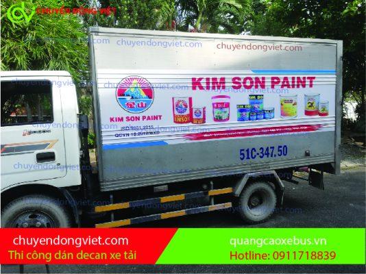 Thi Công dán thùng xe tải