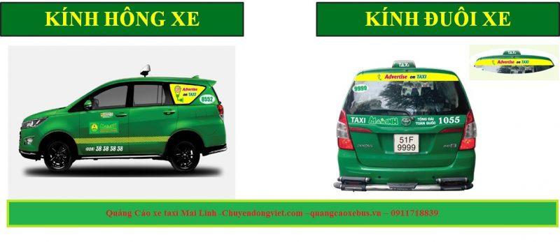 quảng cáo đuôi xe taxi