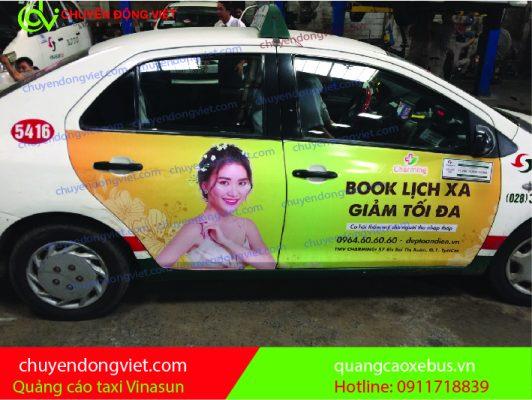 Quảng cáo 4 cánh taxi Vinasun
