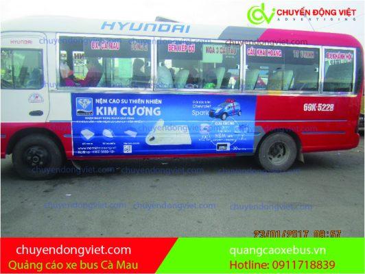Quảng cáo xe buýt Cà Mau