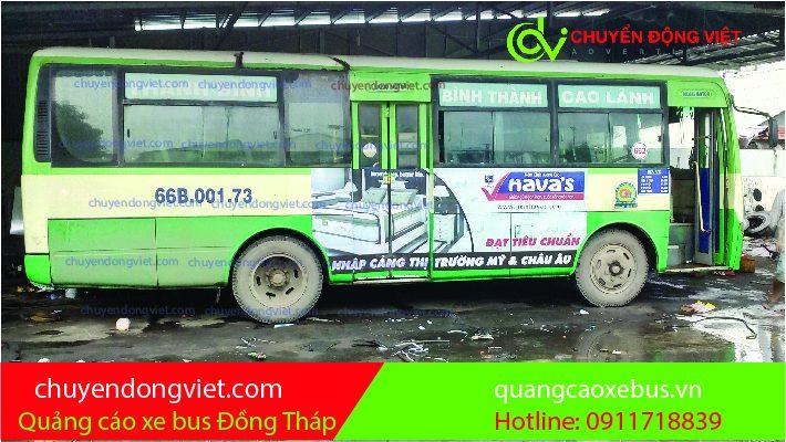 Quảng cáo xe buýt tỉnh Đồng Tháp