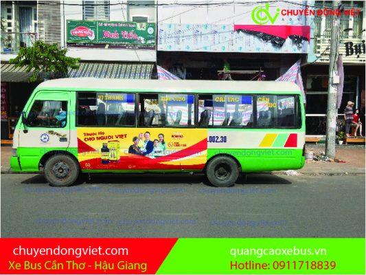 Quảng cáo xe bus Cần Thơ- Hậu Giang