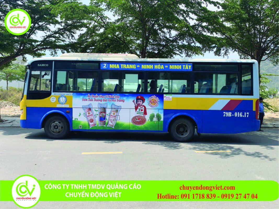 Quang cao xe bus Nha Trang