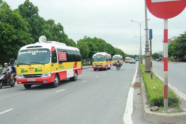 Quảng cáo xe bus Ninh Bình