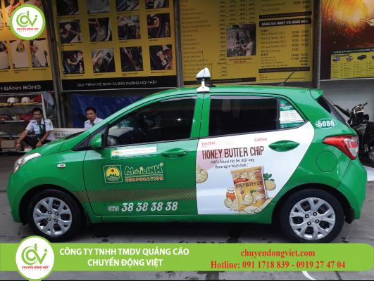 Quảng cáo trên xe taxi Mai Linh