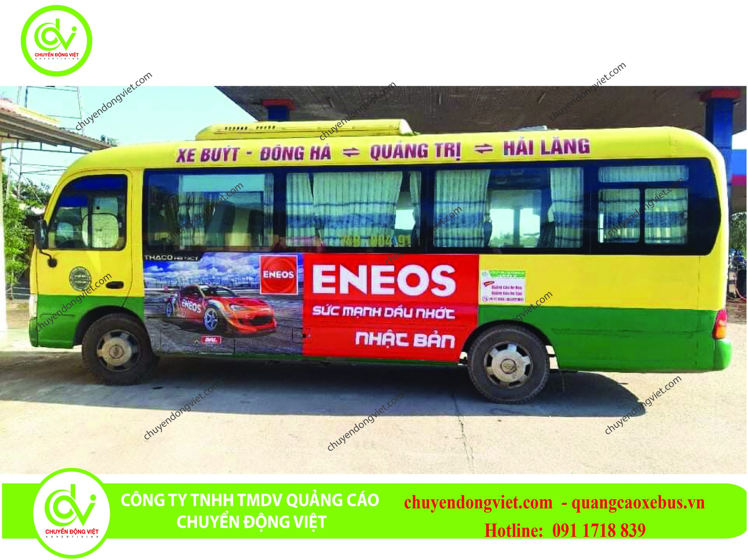 Quảng cáo trên xe bus tỉnh Quảng Trị