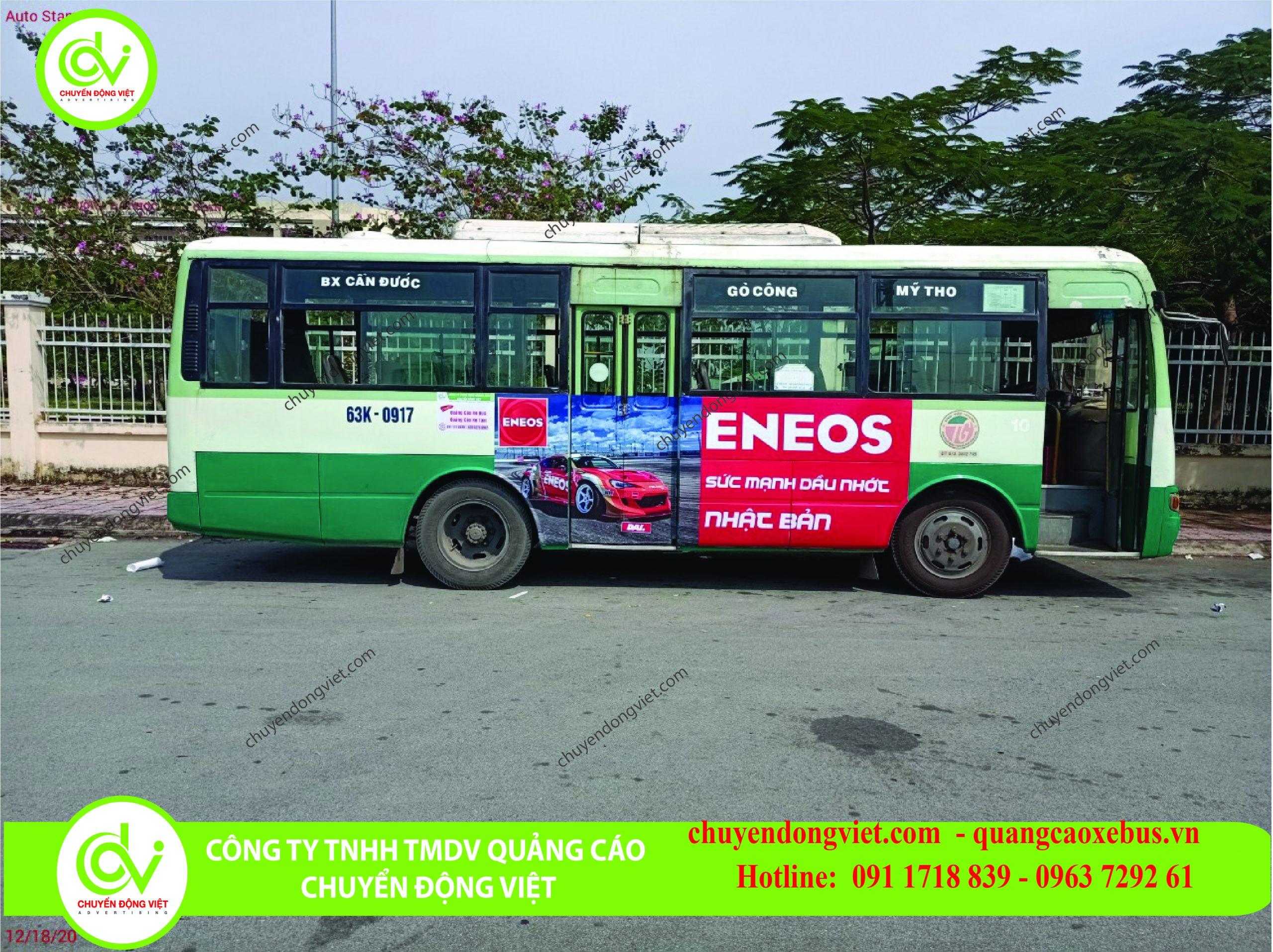 Quảng cáo trên xe buýt Tiền Giang