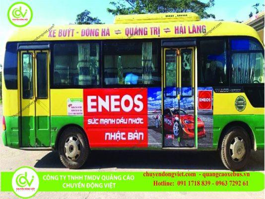 Hình ảnh quảng cáo trên xe bus Quảng Trị