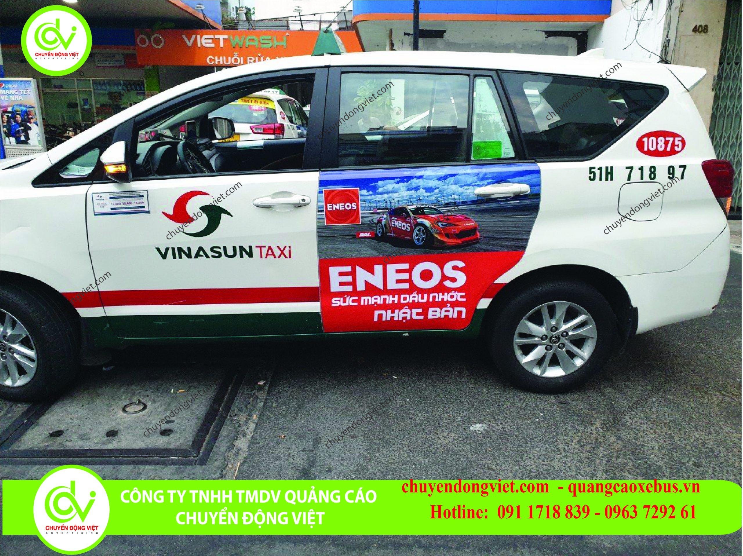 Quảng cáo trên xe taxi Vinasun Hồ Chí Minh
