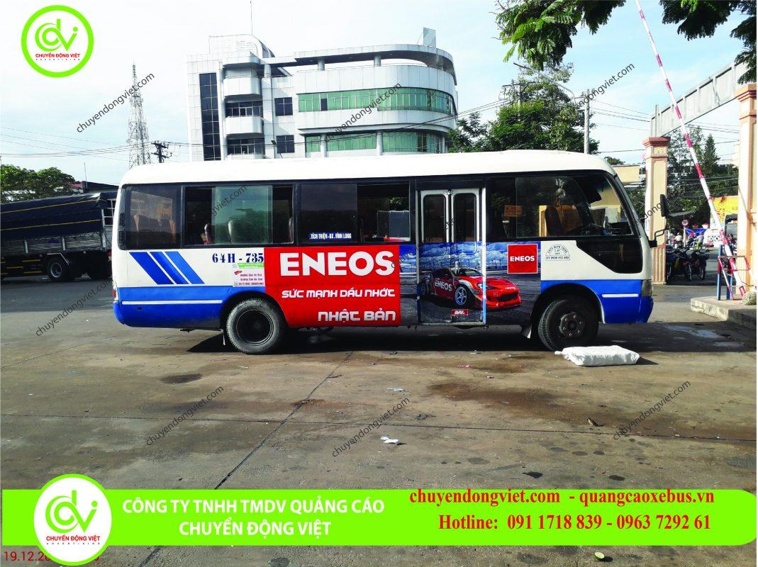 hình ảnh khách hàng quảng cáo thương hiệu trên xe buýt Vĩnh Long