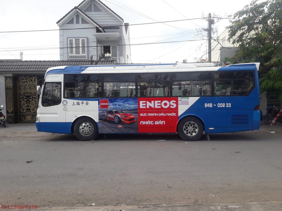 Quảng cáo trên xe bus Vĩnh Long - Cần Thơ