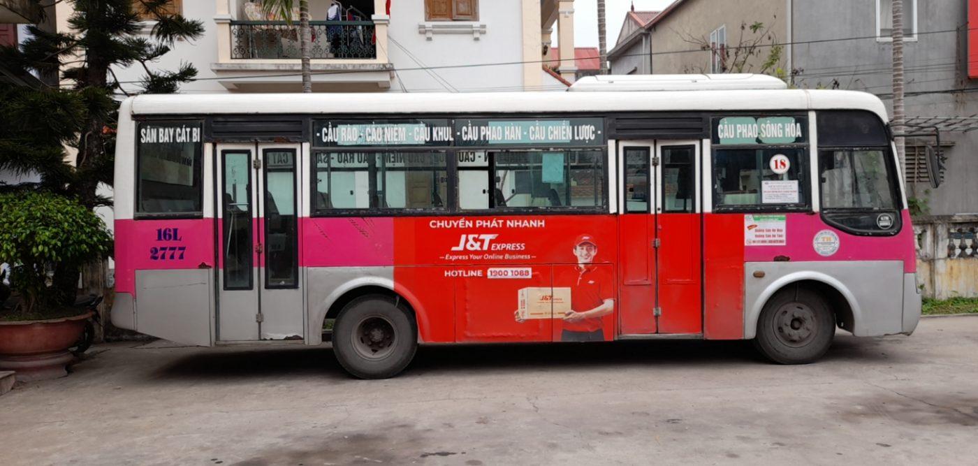 quảng cáo trên xe buýt Hải Phòng