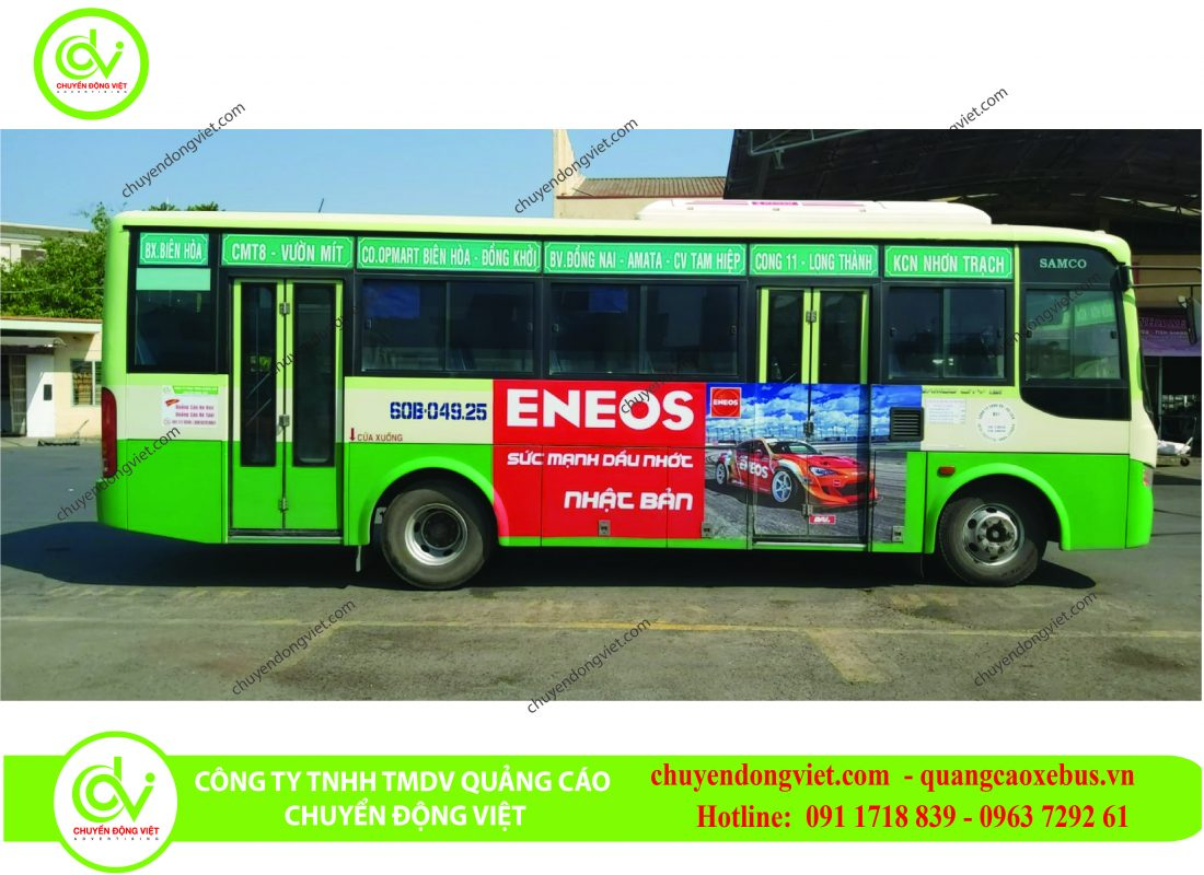 quảng cáo trên xe buýt Đồng Nai