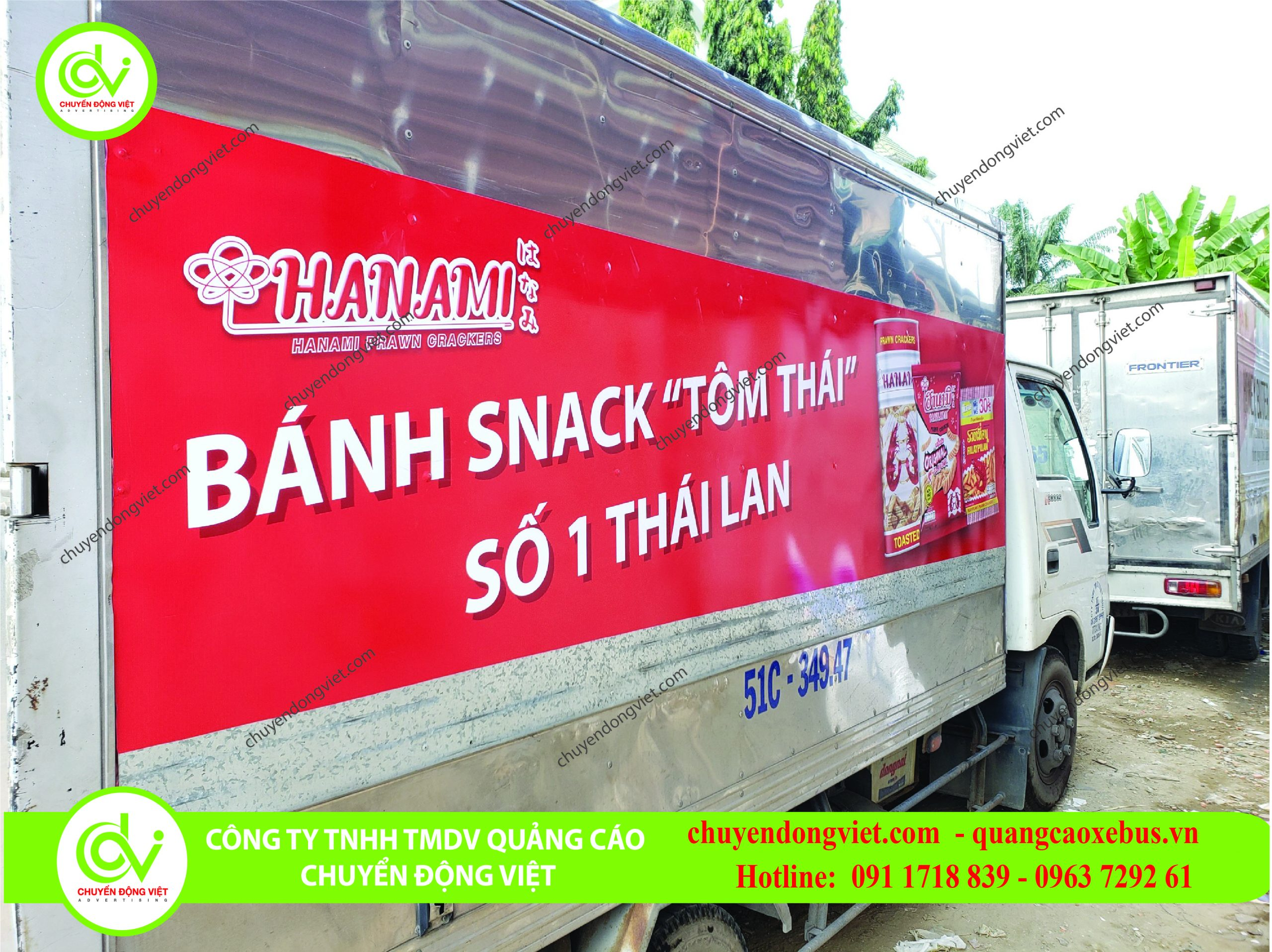 Hình ảnh khác hàng thi công quảng cáo thùng xe tải