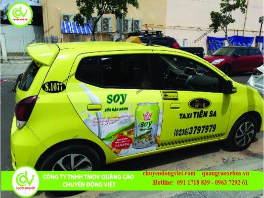 quảng cáo trên xe taxi Tiên Sa Đà Nẵng