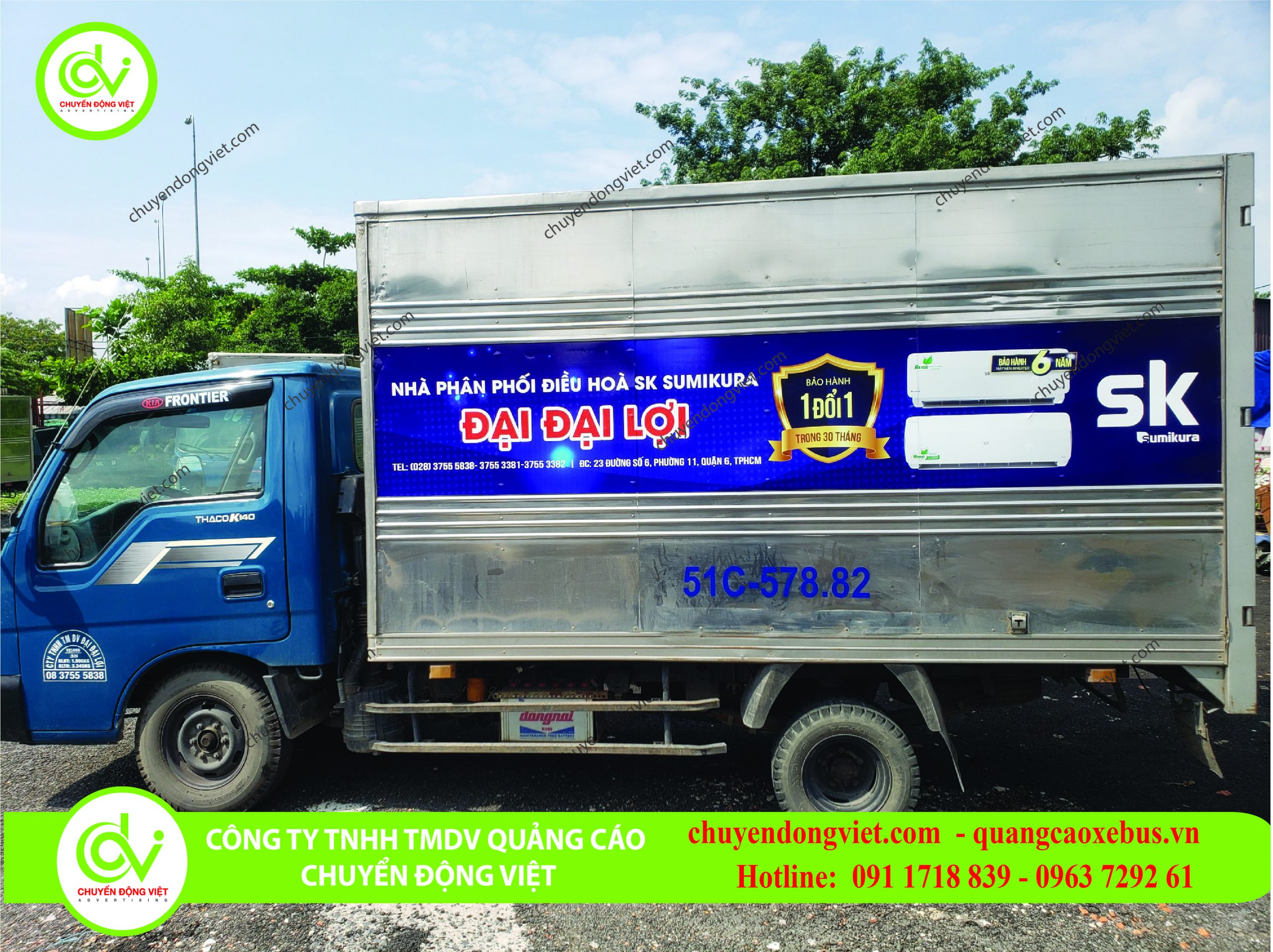 quảng cáo thùng xe tải